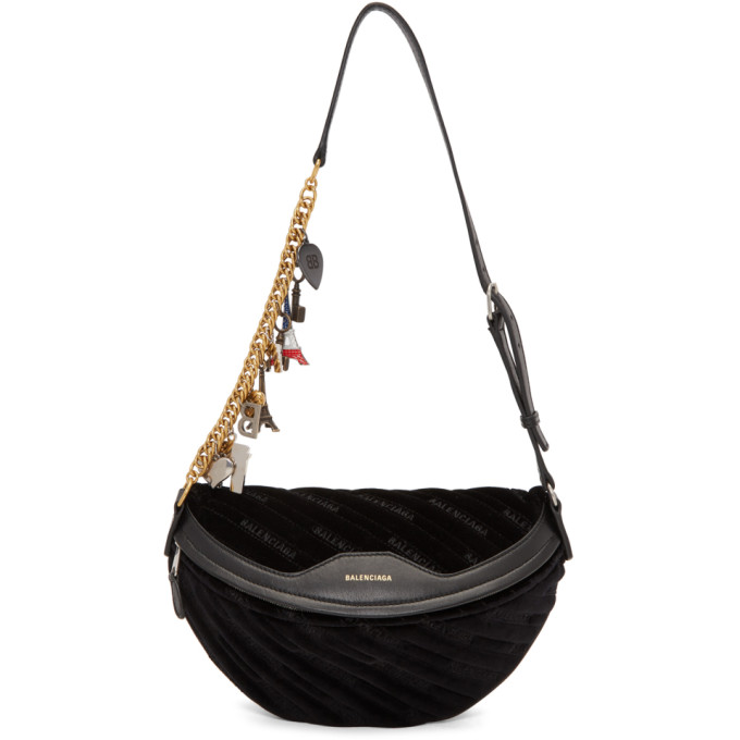 Balenciaga Black Small Souvenir Charm Bag, 1000 Black