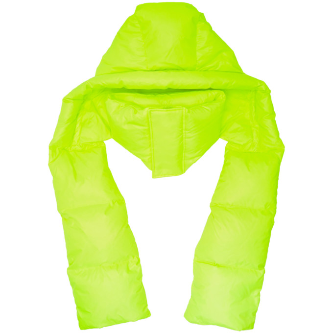 JUUN.J Juun.J Padded Hooded Scarf - Green
