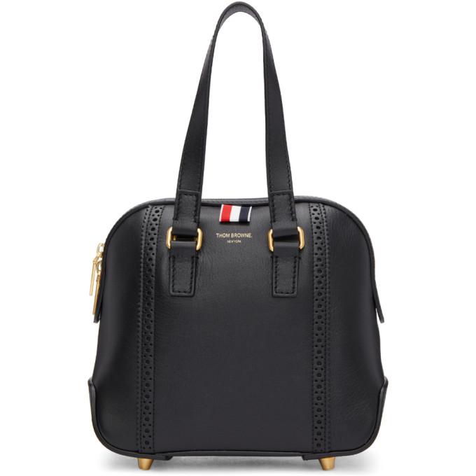 Black Miss Thom Brogue Mini Duffle Bag in 001 Black