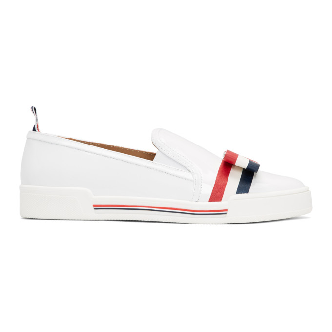 Slip On With Bow in 100 White