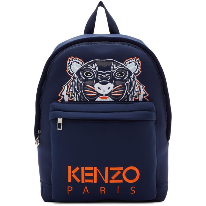 KENZO Navy Tiger Logo Backpack