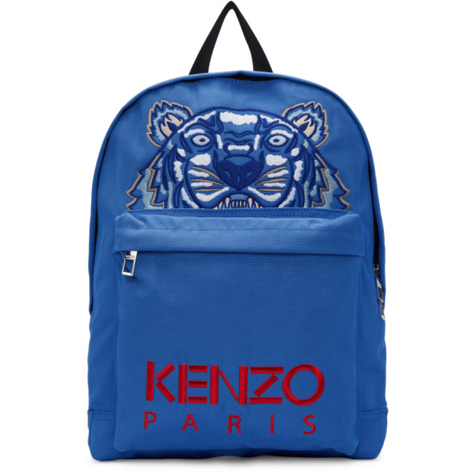 KENZO Tiger Backpack in Blue