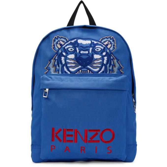 KENZO Tiger Backpack, 74.Med.Blu