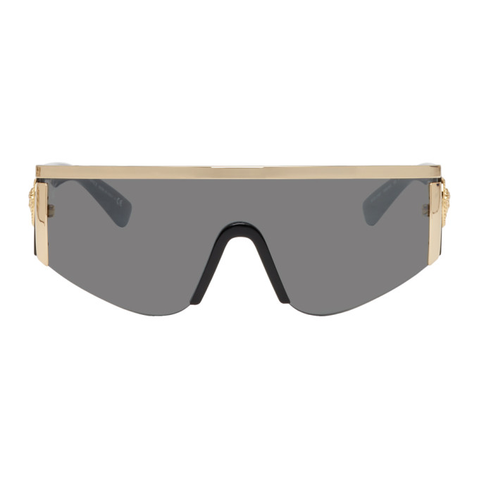 Tribute 147Mm Shield Sunglasses - Gold Solid in 10006G Gold