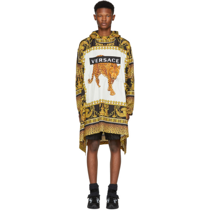 Leopard Graphic Anorak Pullover, A76V Print
