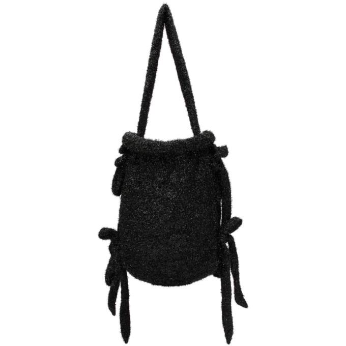 Black Medium Tinsel Bag from SSENSE