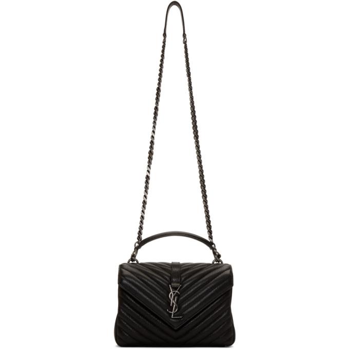 SAINT LAURENT Black Medium College Chain Bag