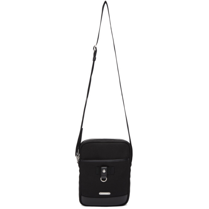 SAINT LAURENT Black Rivington Cross Body Bag