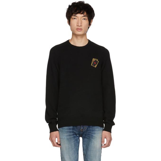 SAINT LAURENT Black Cards Sweater