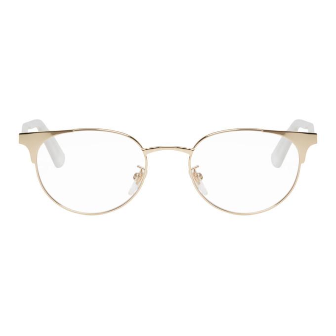 GUCCI Gold Metal Horn Rim Glasses