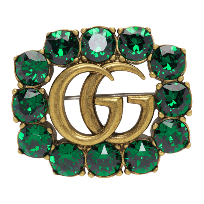 5e6cc2bf78b green-crystal-marmont-brooch by gucci