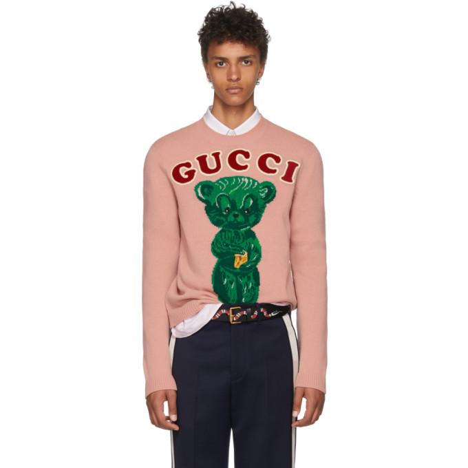 GUCCI Pink Wool Knit Sweater