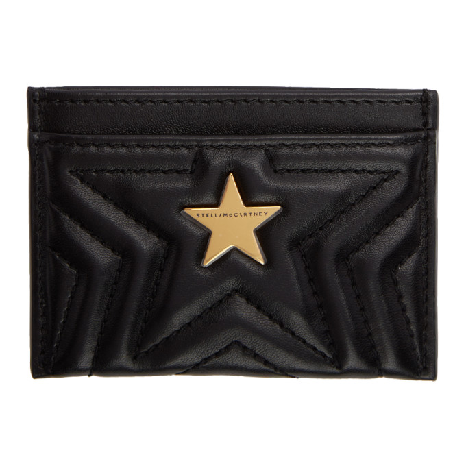 STELLA MCCARTNEY BLACK ALTER-NAPPA STAR CARD HOLDER