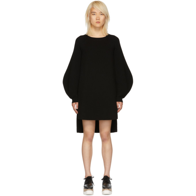 STELLA MCCARTNEY Black Voluminous Sleeve Knit Dress