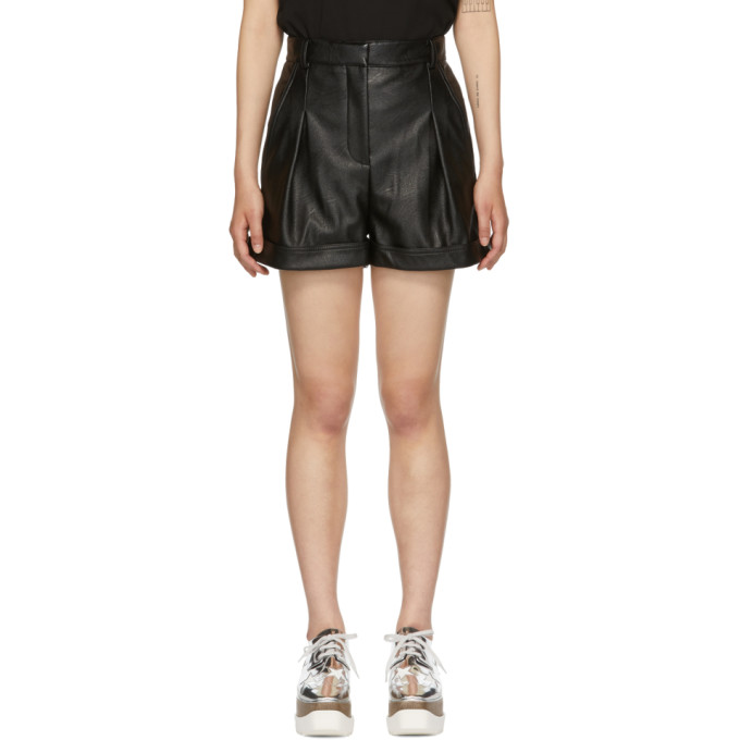 STELLA MCCARTNEY Black Alter-Nappa Shorts