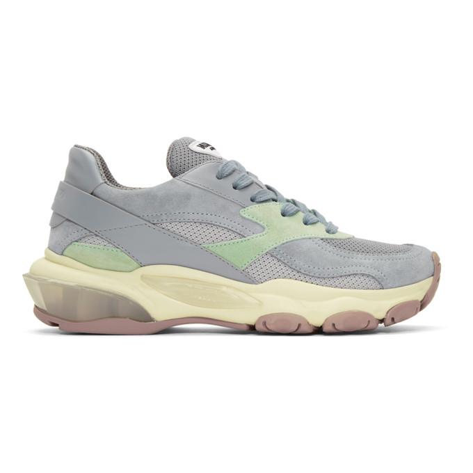 Silver Valentino Garavani Bounce Sneakers by Valentino
