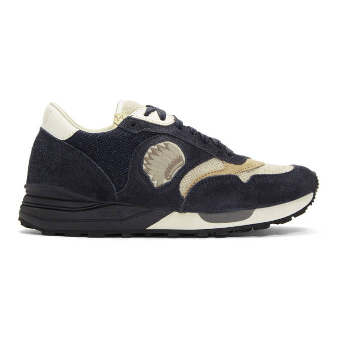 VISVIM Roland Suede And Canvas Sneakers - Navy in Blue