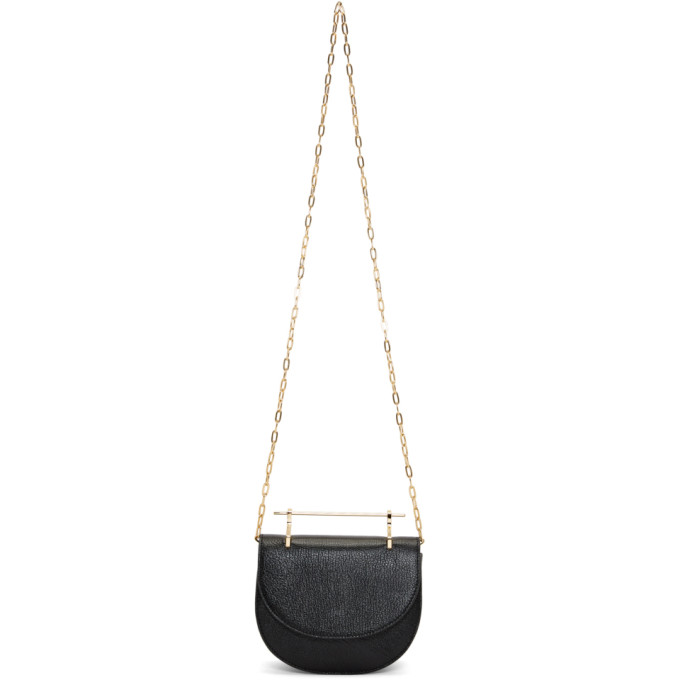 M2MALLETIER BLACK MINI HALF-MOON LUX BAG