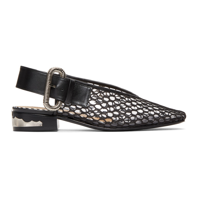 TOGA PULLA BLACK AND CLEAR VINYL LOAFERS