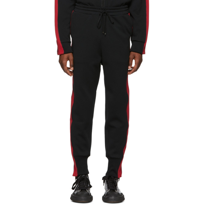 MIHARAYASUHIRO Miharayasuhiro Black And Red Side Stripe Track Pants