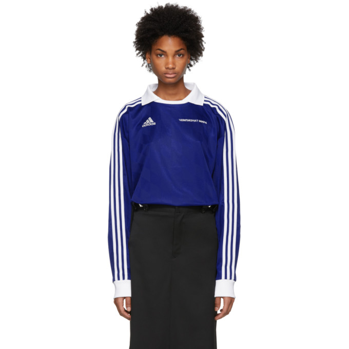 Gosha Rubchinskiy Blue Adidas Originals Edition Football Polo, 2 Blue