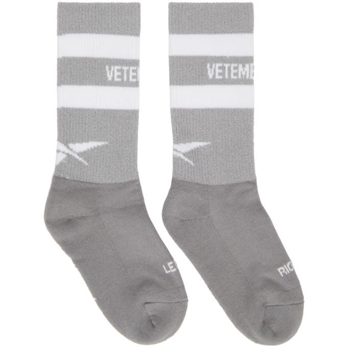 329ec953c828 Vetements Grey Reebok Edition Reflective Socks