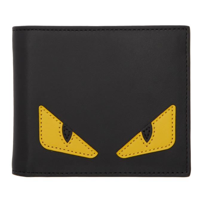 FENDI Black & Yellow Eyes Wallet