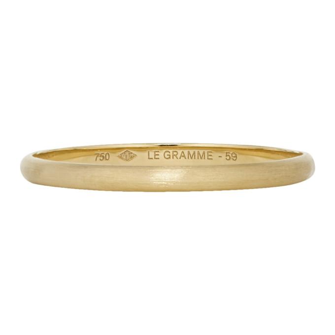LE GRAMME GOLD BRUSHED LE 1 GRAMME WEDDING RING
