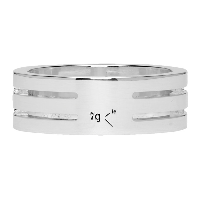 LE GRAMME SILVER PUNCHED LE 7 GRAMMES RING