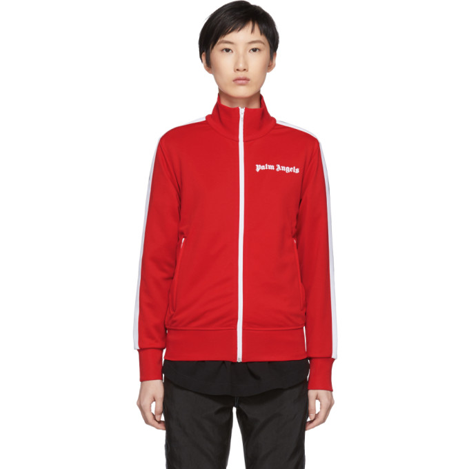 Classic Logo-Embroidered Woven Jacket, 2001 Red