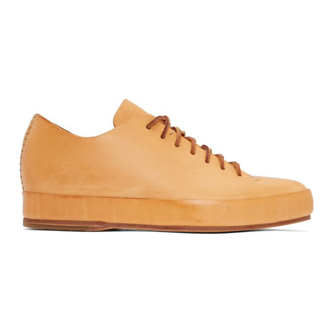 FEIT Feit Tan Hand Sewn Low Sneakers in Natural