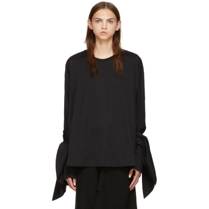 MARQUES' ALMEIDA Marques'Almeida Knotted Sleeve T-Shirt - Black