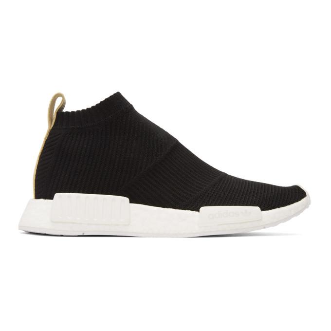 Adidas Originals Leathers ADIDAS ORIGINALS BLACK NMD CS1 PK SNEAKERS