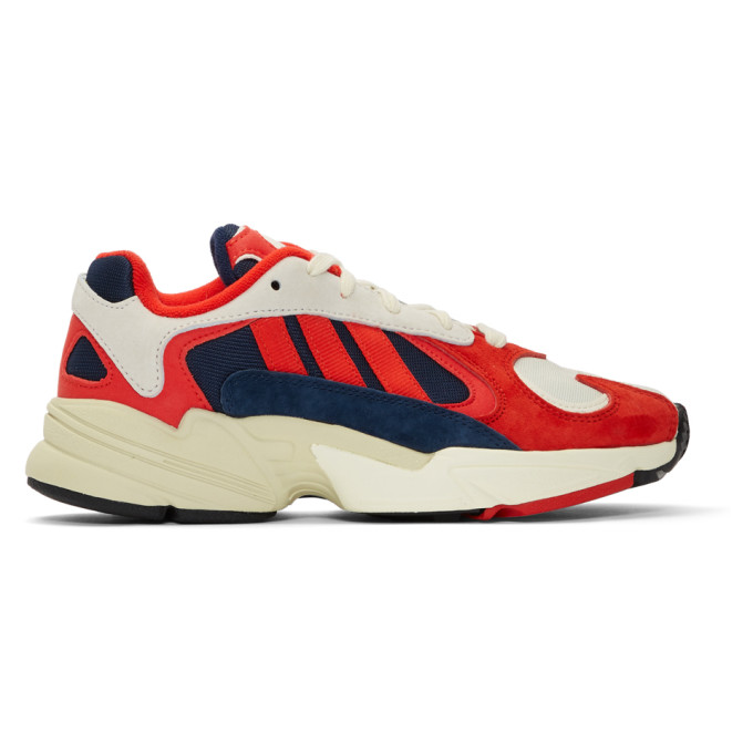 White & Red Yung 1 Sneakers by Adidas Originals