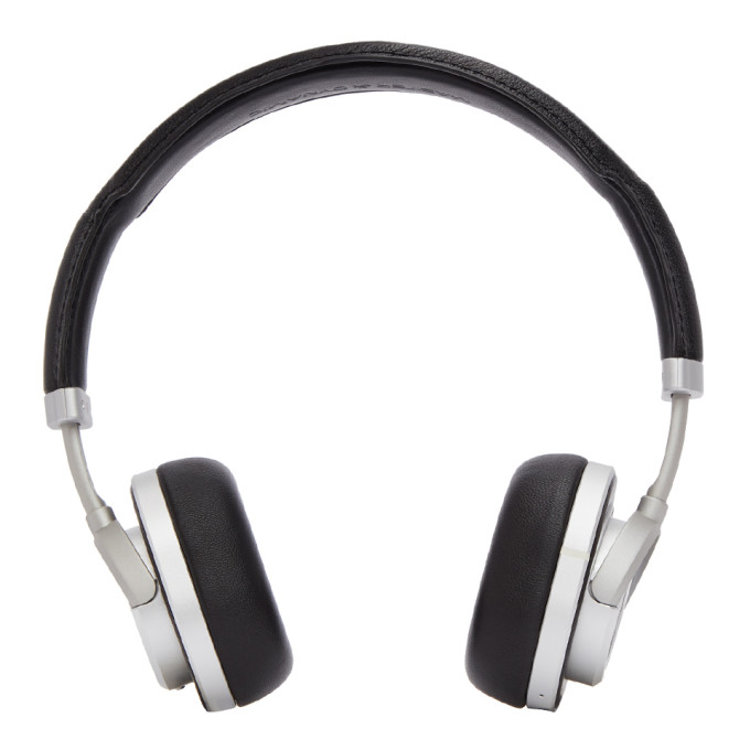 Master And Dynamic Black And Silver Wireless Mw50 Headphones in Black/Silve
