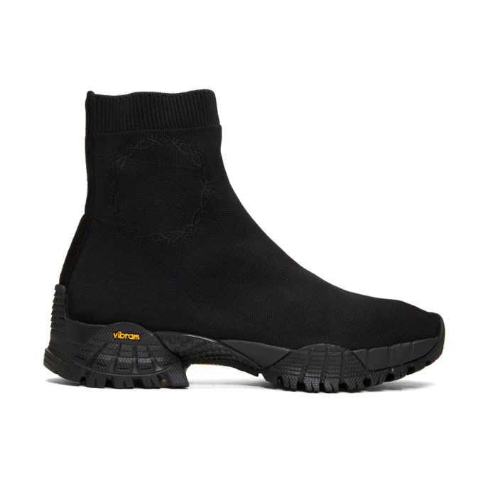 Black Knit Hiking Boots by 1017 Alyx 9 Sm