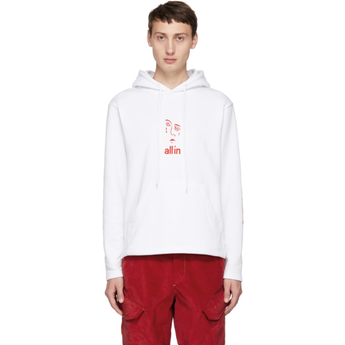 ALL IN All In White Jacknave Hoodie