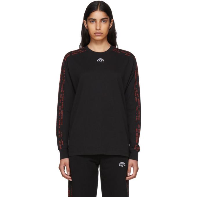 Black Long Sleeve Logo T Shirt by Adidas Originals By Alexander Wang