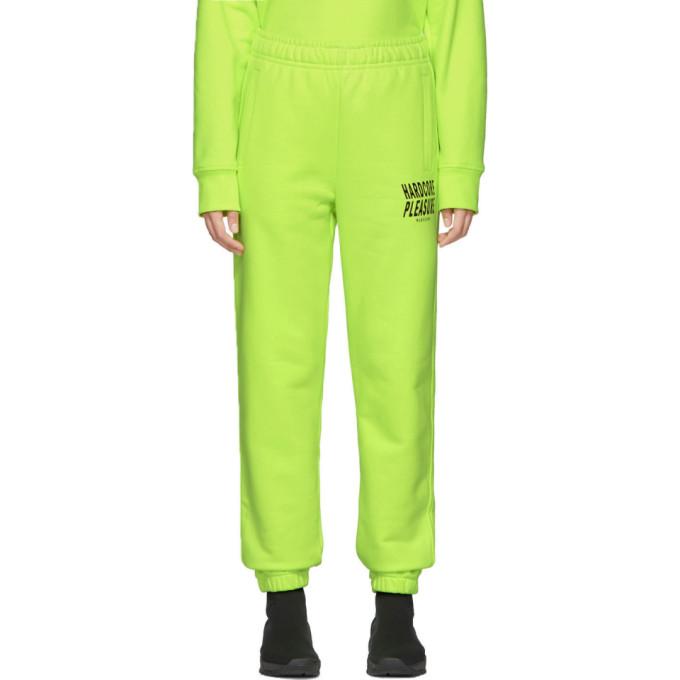 Yellow 'Hardcore Pleasure' Lounge Pants