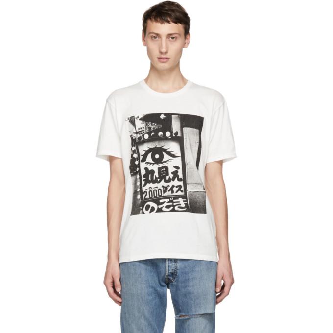 WACKO MARIA Daido Moriyama Printed Cotton-Jersey T-Shirt in White
