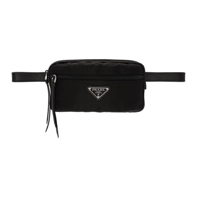 Black Rectangular Belt Pouch by Prada