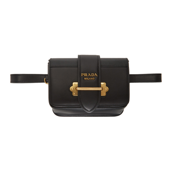 Black Cahier Belt Pouch by Prada