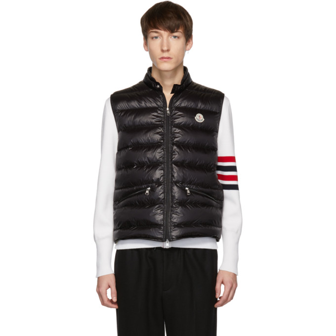 Black Down Gui Vest by Moncler