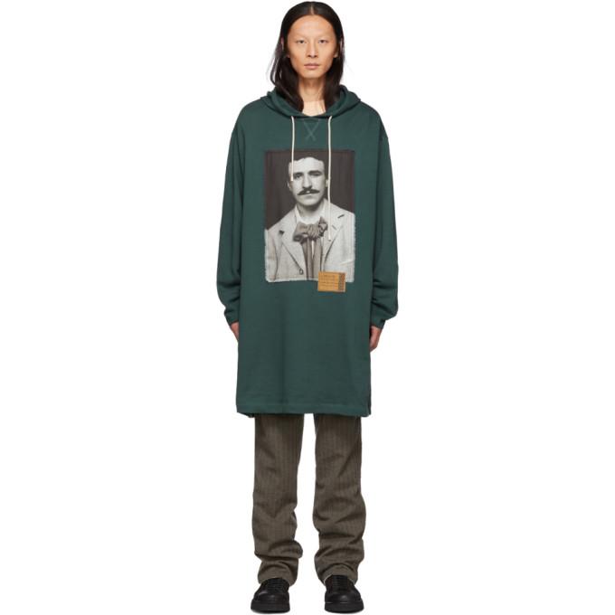 Green Portrait Long Hoodie by Loewe