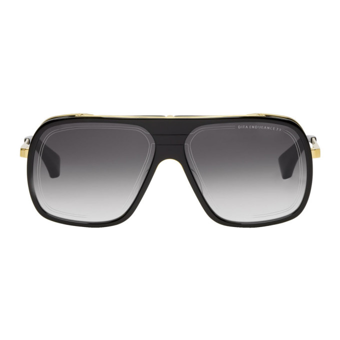 DITA Dita Black And Gold Endurance 79 Sunglasses in Black/Gold