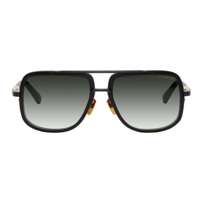 DITA Dita Black Mach-One Sunglasses in Matte Black