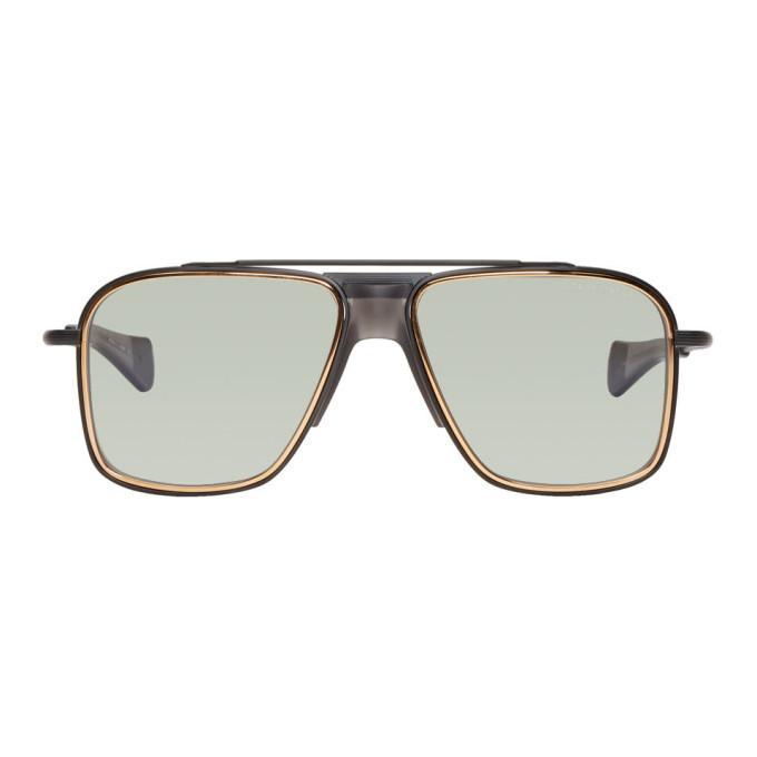 DITA Dita Black And Gold Initiator Sunglasses in Black/Grey
