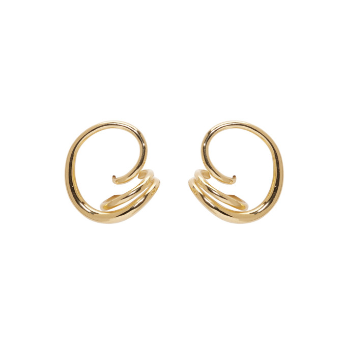 Round Trip 18kt gold-plated earrings