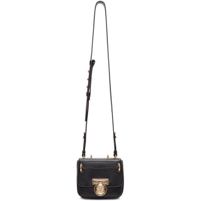 BALMAIN Renaissance 18 Glove Black Leather Small Shoulder Bag