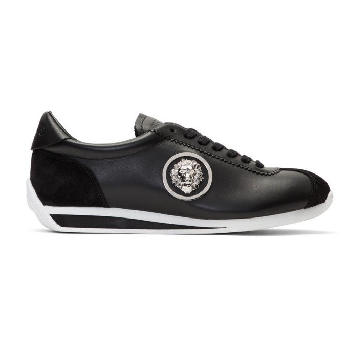 Versus Lion Embellished Trainers In F490N Black